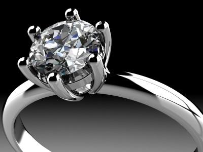 6 prong diamond ring